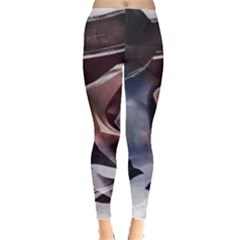 2272 Paper Paint Lines 3840x2400 Leggings  by amphoto
