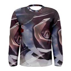 2272 Paper Paint Lines 3840x2400 Men s Long Sleeve Tee by amphoto