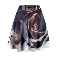 2272 Paper Paint Lines 3840x2400 High Waist Skirt by amphoto