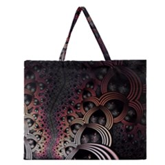 Patterns Surface Shape Zipper Large Tote Bag by amphoto