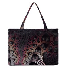 Patterns Surface Shape Zipper Medium Tote Bag by amphoto