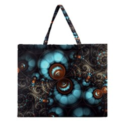 Spiral Background Form 3840x2400 Zipper Large Tote Bag by amphoto