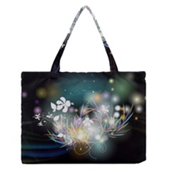 Abstraction Color Pattern 3840x2400 Zipper Medium Tote Bag by amphoto