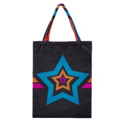 Star Background Colorful  Classic Tote Bag