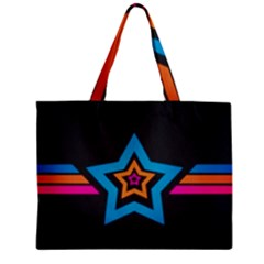Star Background Colorful  Zipper Mini Tote Bag by amphoto