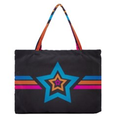 Star Background Colorful  Zipper Medium Tote Bag by amphoto