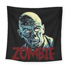 Zombie Square Tapestry (large) by Valentinaart