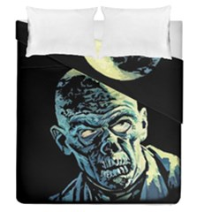 Zombie Duvet Cover Double Side (queen Size) by Valentinaart