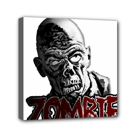 Zombie Mini Canvas 6  X 6  by Valentinaart