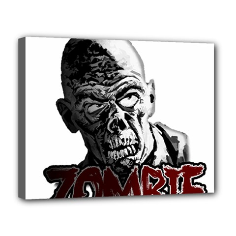 Zombie Canvas 14  X 11  by Valentinaart