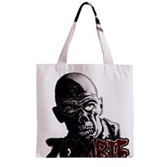 Zombie Zipper Grocery Tote Bag by Valentinaart