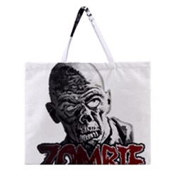 Zombie Zipper Large Tote Bag by Valentinaart