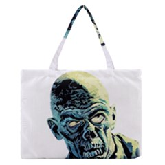 Zombie Zipper Medium Tote Bag by Valentinaart