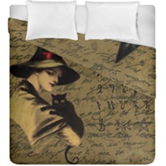 Witchcraft Vintage Duvet Cover Double Side (king Size) by Valentinaart