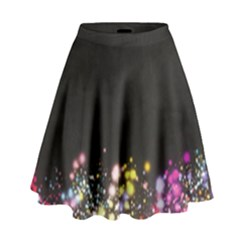 Spots Colorful Bright  High Waist Skirt by amphoto