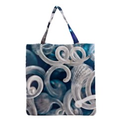 Spiral Glass Abstract  Grocery Tote Bag by amphoto