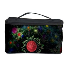 Shapes Circles Flowers  Cosmetic Storage Case by amphoto