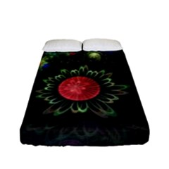 Shapes Circles Flowers  Fitted Sheet (full/ Double Size) by amphoto