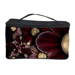 Flower Background Line Cosmetic Storage Case by amphoto