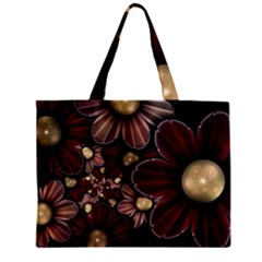 Flower Background Line Zipper Mini Tote Bag by amphoto
