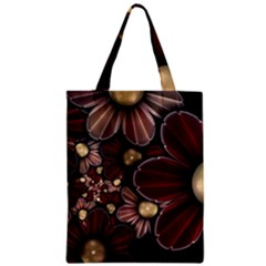 Flower Background Line Zipper Classic Tote Bag by amphoto