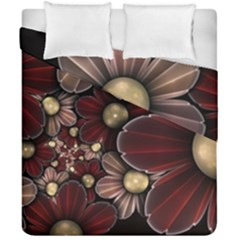Flower Background Line Duvet Cover Double Side (california King Size) by amphoto