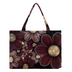 Flower Background Line Medium Tote Bag by amphoto