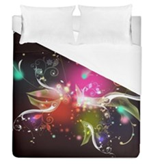 Plant Patterns Colorful  Duvet Cover (queen Size) by amphoto