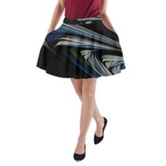 Stripes Waves Bright  A Line Pocket Skirt by amphoto
