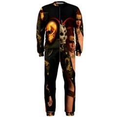 The Dark Side, Women With Skulls In The Night Onepiece Jumpsuit (men)  by FantasyWorld7