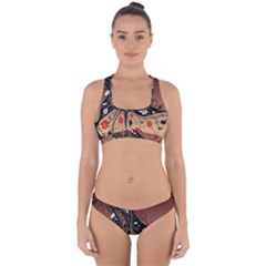 Girl Face Hair  Cross Back Hipster Bikini Set
