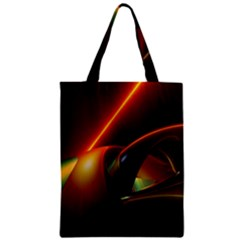 Line Figure Background  Zipper Classic Tote Bag by amphoto