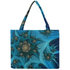 Fractal Flower White Mini Tote Bag by amphoto
