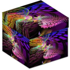 Fractal Patterns Background  Storage Stool 12   by amphoto