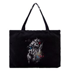 Man Rage Screaming  Medium Tote Bag by amphoto