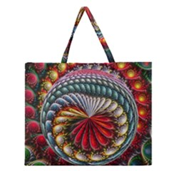 Circles Lines Background  Zipper Large Tote Bag by amphoto
