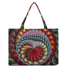 Circles Lines Background  Zipper Medium Tote Bag by amphoto