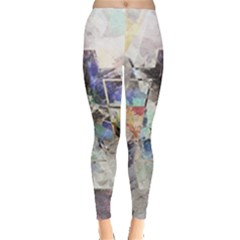 Surface Dark Colorful  Leggings  by amphoto