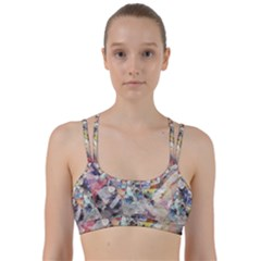 Surface Dark Colorful  Line Them Up Sports Bra