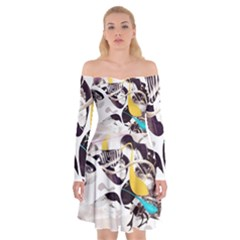 Surrealism Paint Animal  Off Shoulder Skater Dress