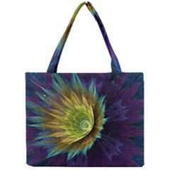 Flower Line Smoke  Mini Tote Bag by amphoto