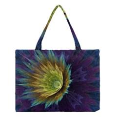 Flower Line Smoke  Medium Tote Bag by amphoto