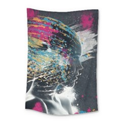 Face Paint Explosion 3840x2400 Small Tapestry by amphoto