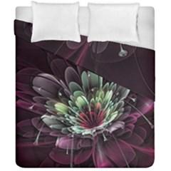 Flower Burst Background  Duvet Cover Double Side (California King Size)