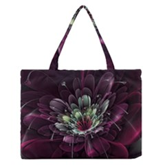 Flower Burst Background  Zipper Medium Tote Bag by amphoto