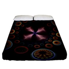 Circles Colorful Patterns  Fitted Sheet (queen Size) by amphoto