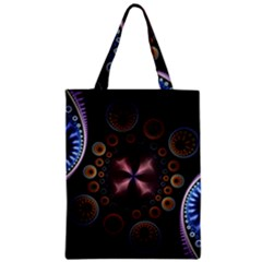 Circles Colorful Patterns  Zipper Classic Tote Bag by amphoto