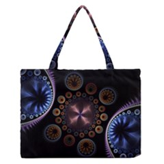 Circles Colorful Patterns  Zipper Medium Tote Bag by amphoto
