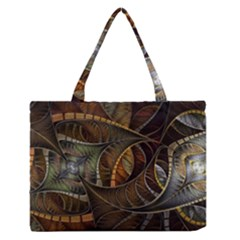 Mosaics Stained Glass Colorful  Zipper Medium Tote Bag by amphoto
