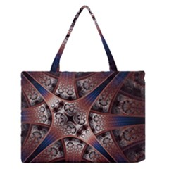 Lines Patterns Background  Zipper Medium Tote Bag by amphoto